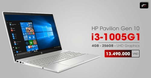 Laptop HP Gen 10th - 8QN78PA